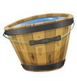 wood bucket with water vector image