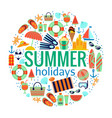 beach summer or vacation concept vector image