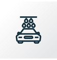 carwash outline symbol premium quality isolated vector image