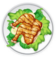 a plate of chicken vector image vector image