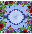 Abstract floral frame with banner vector image vector image