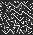 abstract white on black zig zag with dots pattern vector image vector image