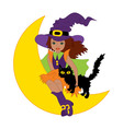 African American Witch - Halloween vector image