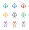 baby icon white background vector image vector image