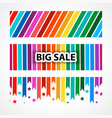 banner big sale abstract backgrounds for vector image