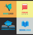 book logo set vector image