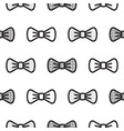 bow tie little gentleman seamless pattern vector image vector image