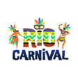 brazil carnival of funny vector image vector image