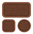 brown wood banners clean wooden texture vector image
