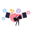 business etiquette and dress code concept tiny vector image vector image