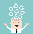 businessman head with the gears brain storming vector image vector image