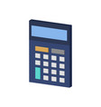 calculator symbol flat isometric icon or logo 3d vector image vector image