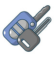 car keys icon cartoon style vector image