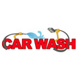 car wash symbol isolated on white vector image vector image