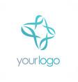 circle abstract loop business logo vector image vector image