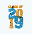 class of 2019 concept stamped word art vector image vector image