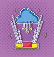 cloud data center technology patch sticker vector image
