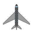 color image cartoon top view travel airplane vector image