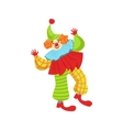 Colorful Friendly Clown In Ruffle To Classic vector image vector image