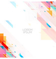 colorful memphic style background poster design vector image vector image