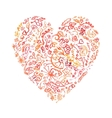 Creative doodle watercolor heart vector image vector image