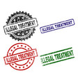 damaged textured illegal treatment stamp seals vector image vector image