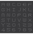Dashed line Alphabet Set vector image vector image