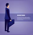 data network businessman vector image vector image