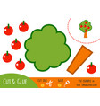 Education paper game for children apple tree
