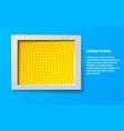elegant rectangular frame vector image