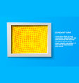 elegant rectangular frame vector image vector image