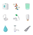 Equipment for bathroom icons set cartoon style vector image vector image