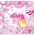 floral and watercolor design vector image vector image