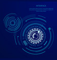 futuristic interface with many geometric shapes vector image vector image