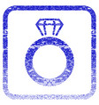 gem ring framed textured icon vector image vector image