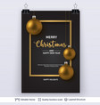 golden shiny christmas balls on dark background vector image vector image