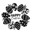 greeting card with black easter eggs vector image vector image