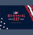happy memorial day greeting card with original vector image vector image