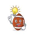 have an idea american football character cartoon vector image vector image