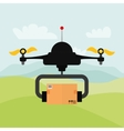 Helicopter drone design technology icon vector image
