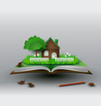 home on the book vector image