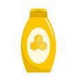 honey cream icon flat style vector image