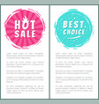 hot burn sale best price choice set label poster vector image vector image