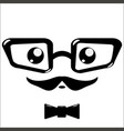 icon eyeglasses and mustaches vector image vector image