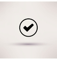 Icon of check box Isolated vector image