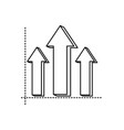 infographic arrows symbol vector image