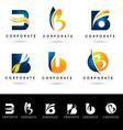Letter B Logo Designs vector image vector image