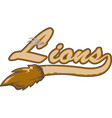 lion logo mascot font vector image vector image