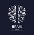 logo silhouette of brain vector image