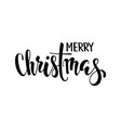 merry christmas hand drawn creative calligraphy vector image vector image